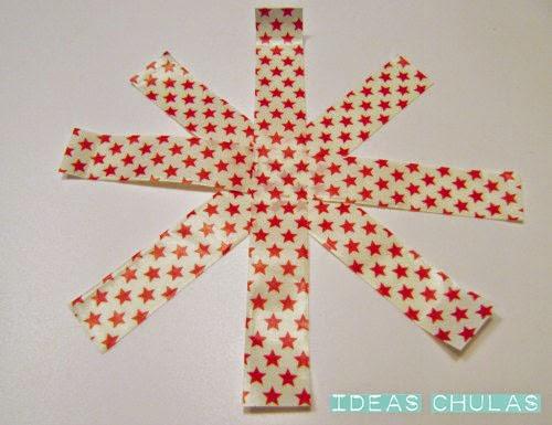 Estrella de washi-tape para el árbol