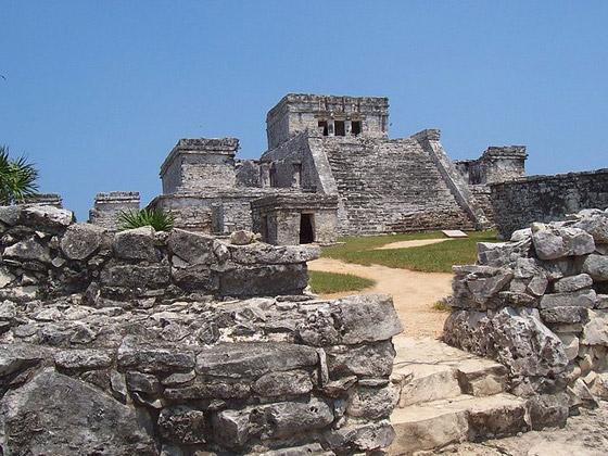 en las ruinas mayas de Toniná, en la localidad mexicana de Ocosingo