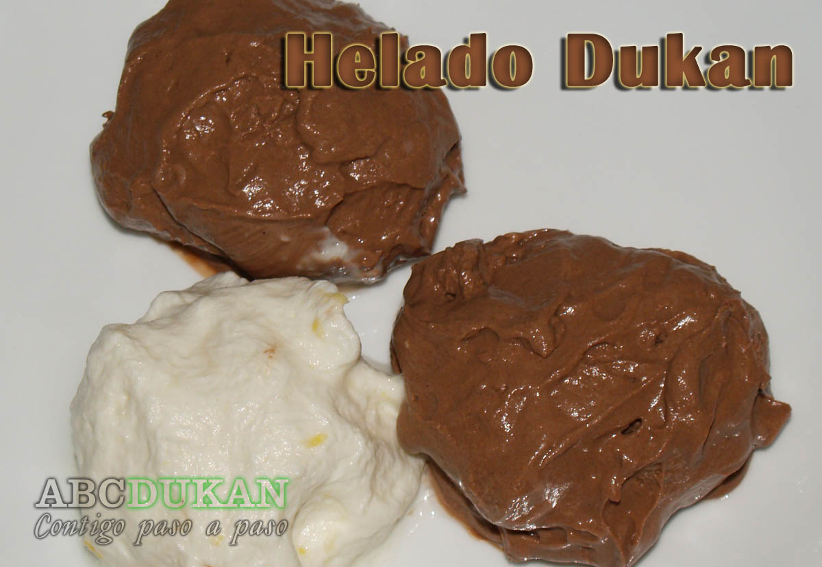 helado de limon y chocolate dukan