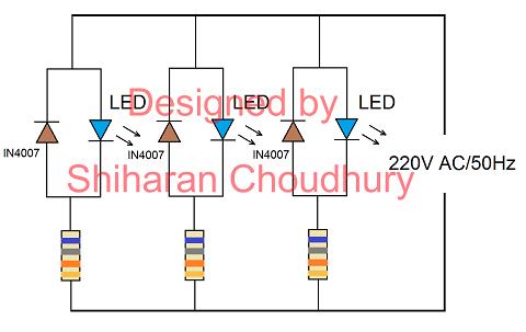 led light circuits 230v ac pdf