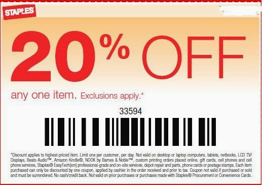 Coupon code for staples