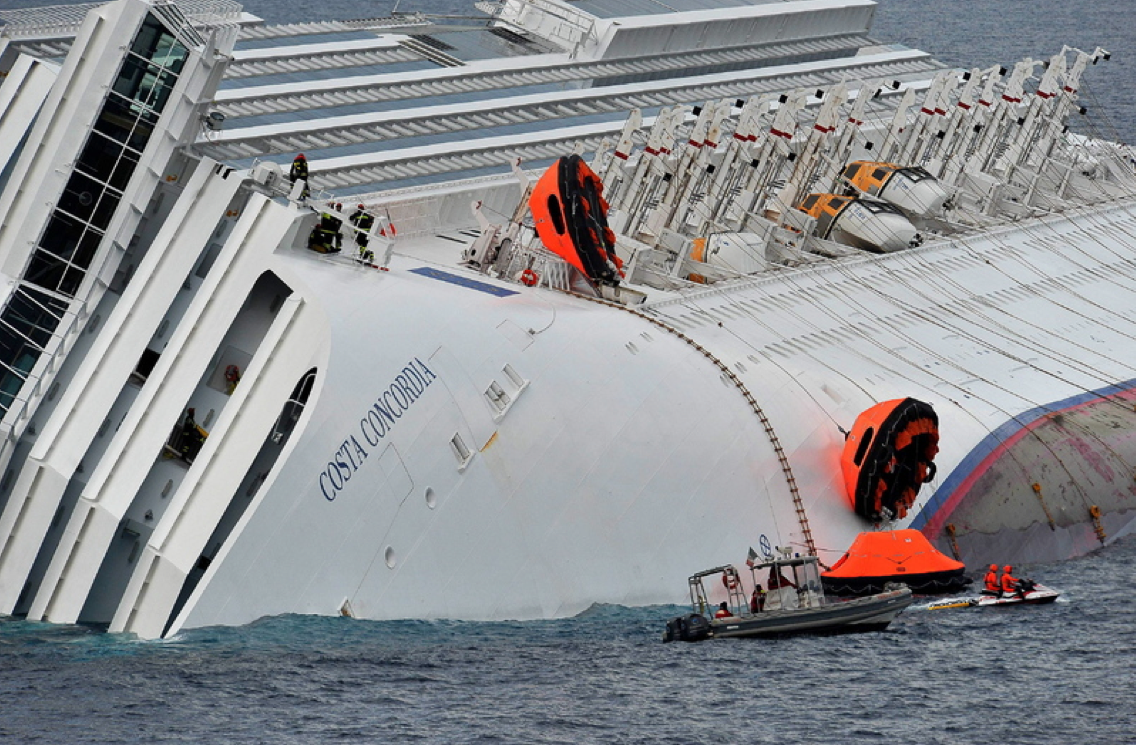 Costa concordia grounding abandon ship - What side is port and starboard on a boat ...