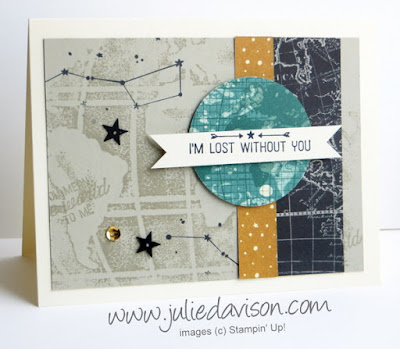 Stampin' Up! Occasions Catalog Sneak Peek: Going Global masucline card #stampinup www.juliedavison.com