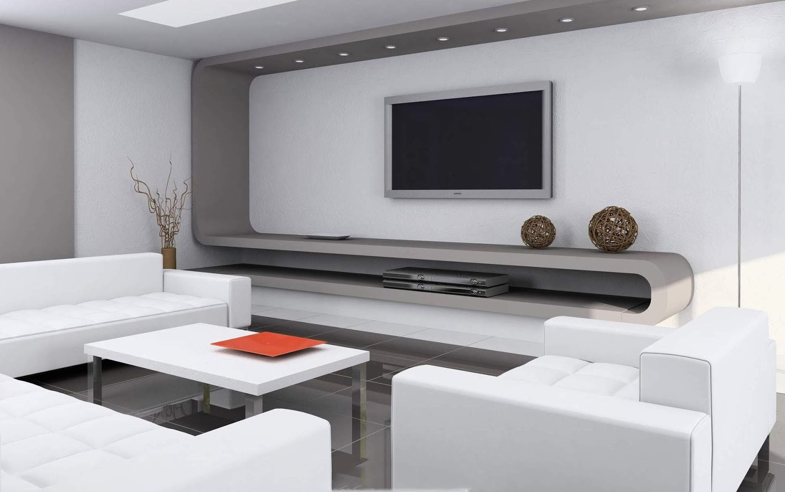 Tv wall decoration living room 2014 part 2 for Minimalist room design ideas