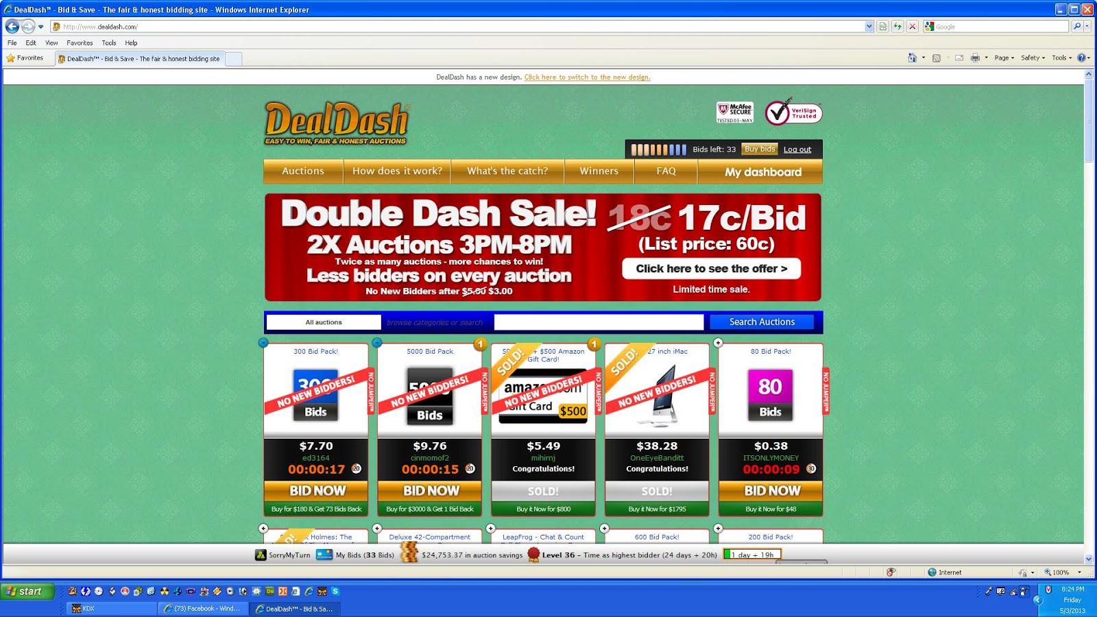 DealDash Shopping Overbidding on Bid Packages