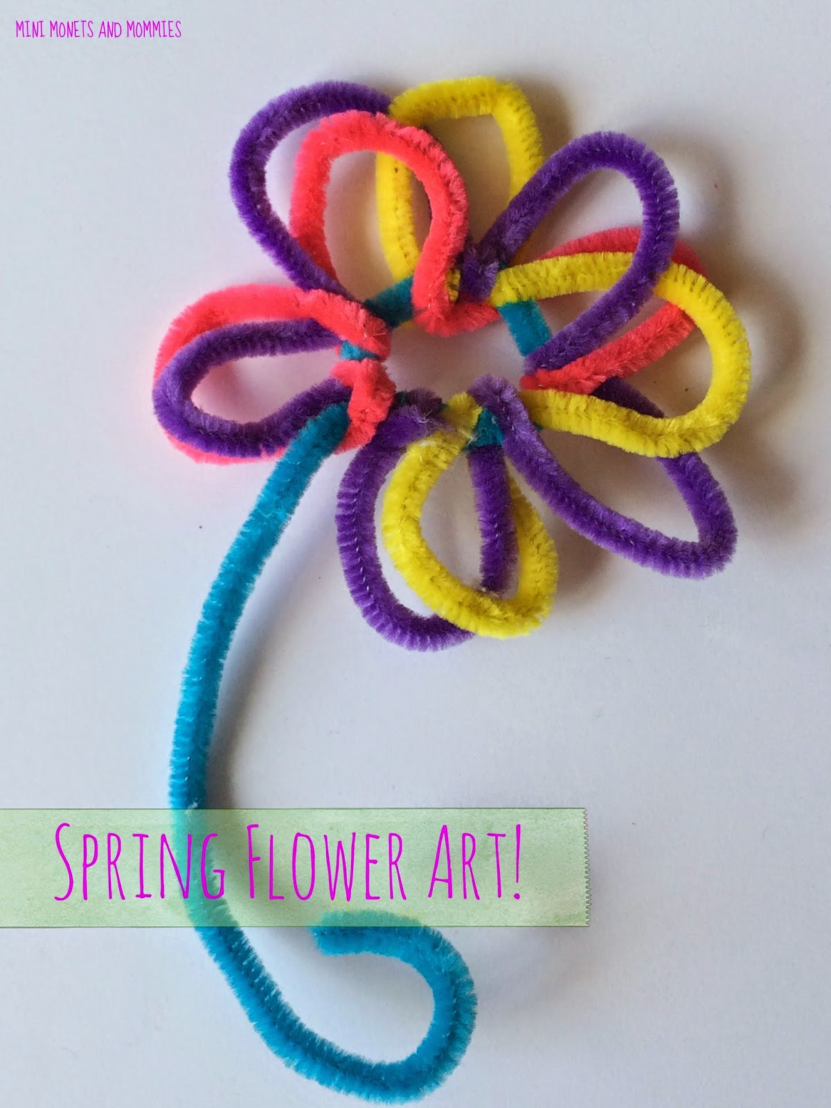 Kids' pipecleaner art