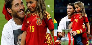 Sergio Ramos y su sobrina Daniela