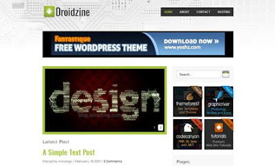 Droidzine WordPress Theme