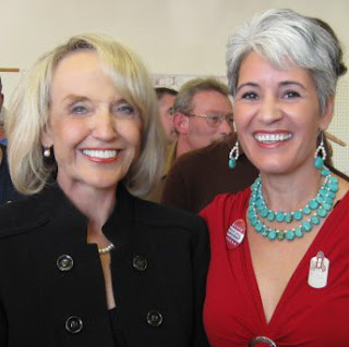 Gabriela Saucedo Mercer with Arizona Governor Jan Brewer in 2010.