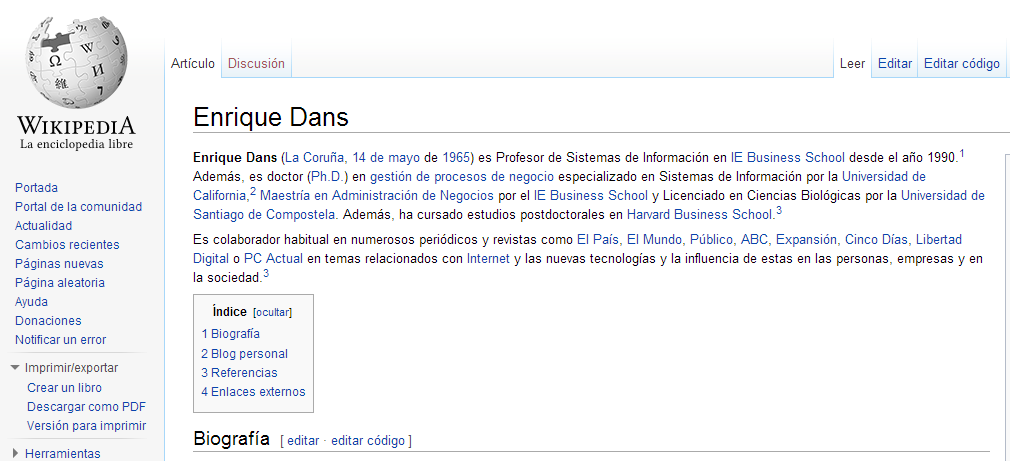 wikipedia Dans