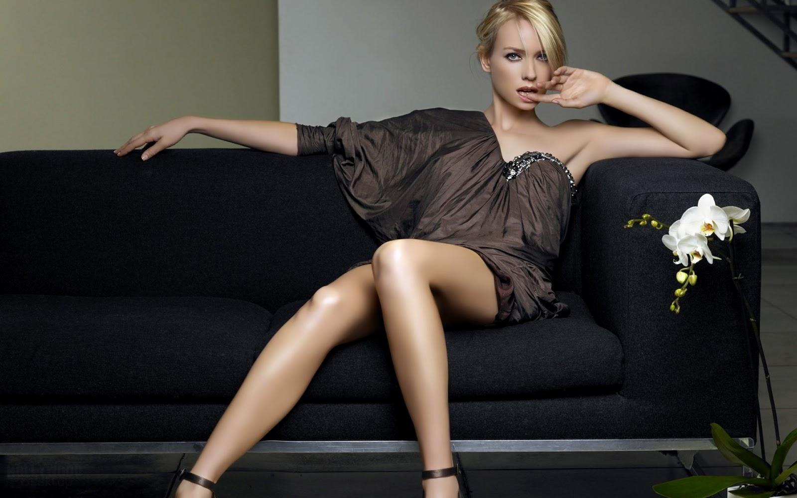 Naomi Watts on Sofa