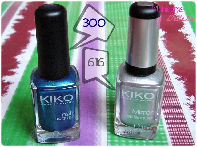christmas nail art nails manicura navideña uñas navidad azul azules dots puntos nail tape manicure dotting tool blue silver plata plateado tree arbol de navidad kiko cosmetics