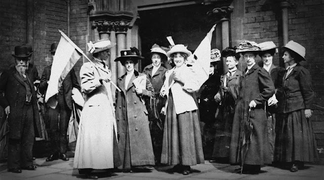 Suffragettes, Angleterre, 1911