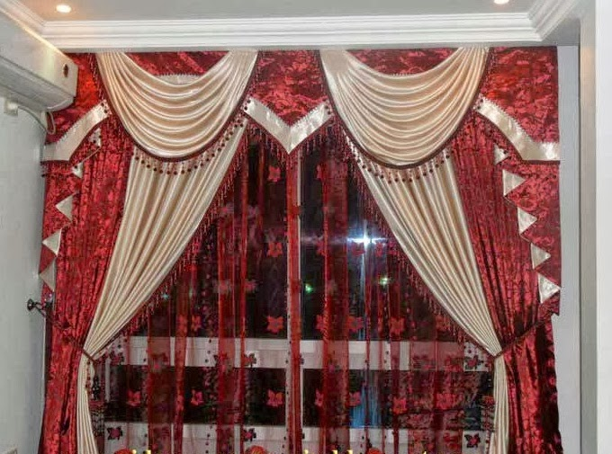 Salon marocaine moderne: Rideaux pour salon marocain moderne