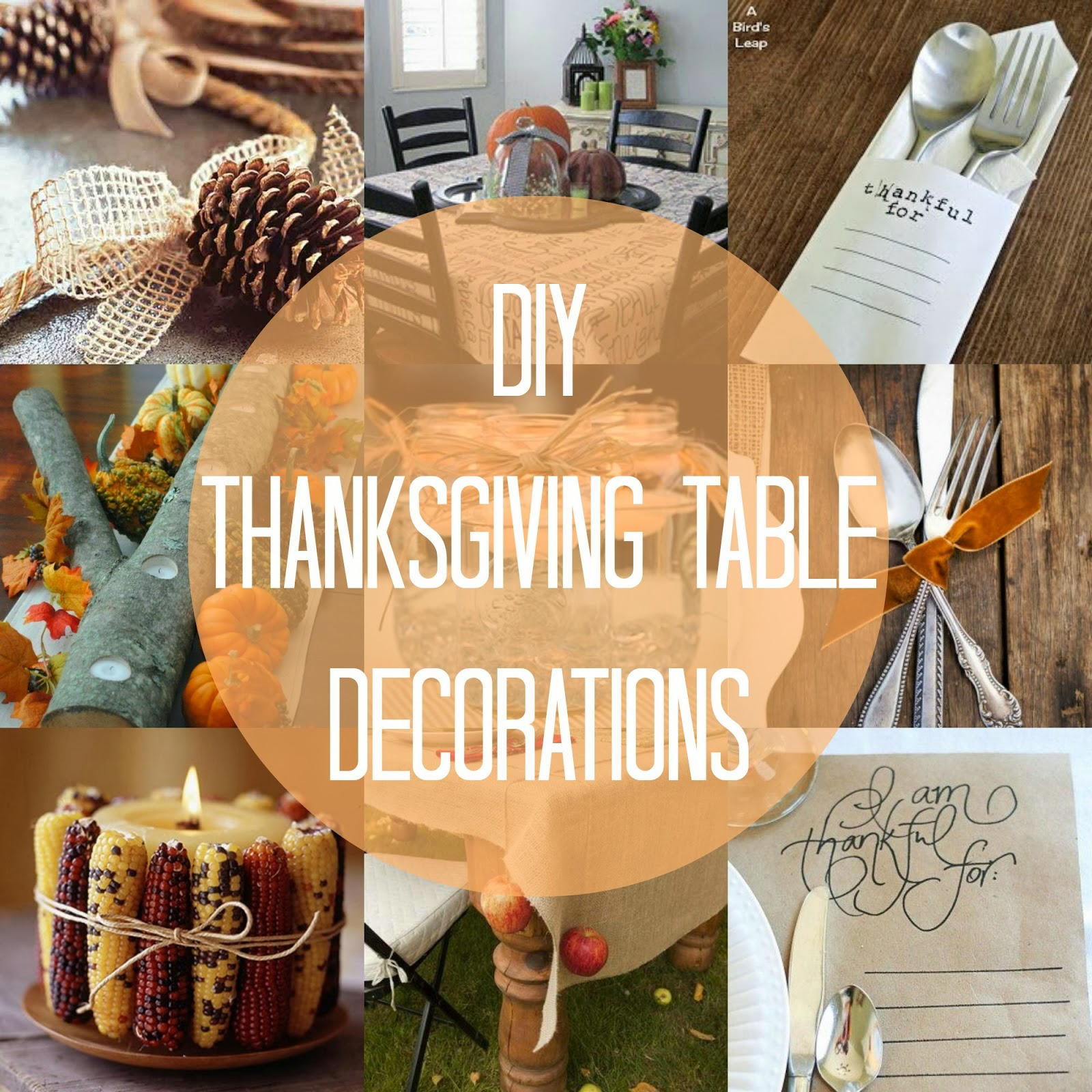 Thanksgiving table decor Thanksgiving table decorations homemade