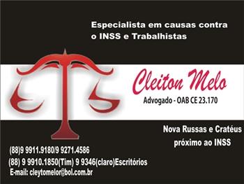 Dr. Cleiton Melo - Causas trabalhistas e previdenciárias