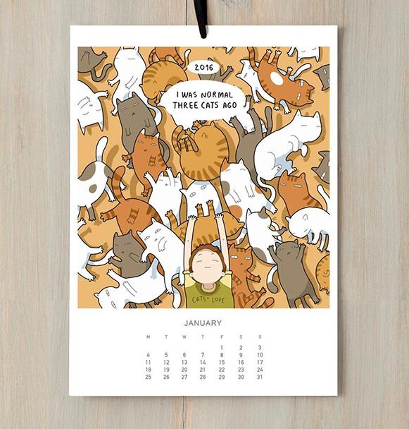 Calendário de Gatos – Bem Legaus