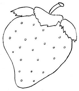A Desenhar morango vermelho colorir