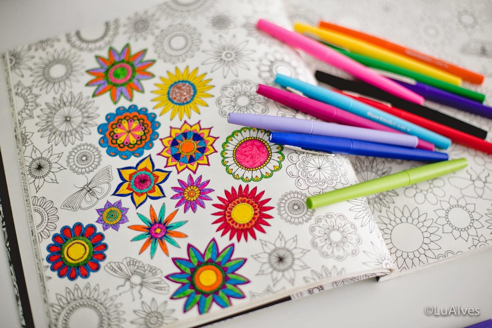 Arte Terapia Anti Stress Jardins 100 Imagens Para Colorir  - imagens para colorir de livros