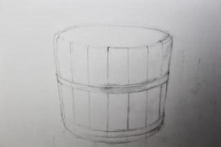 Original graphite drawing, day 1, by artist Carroll Jones II