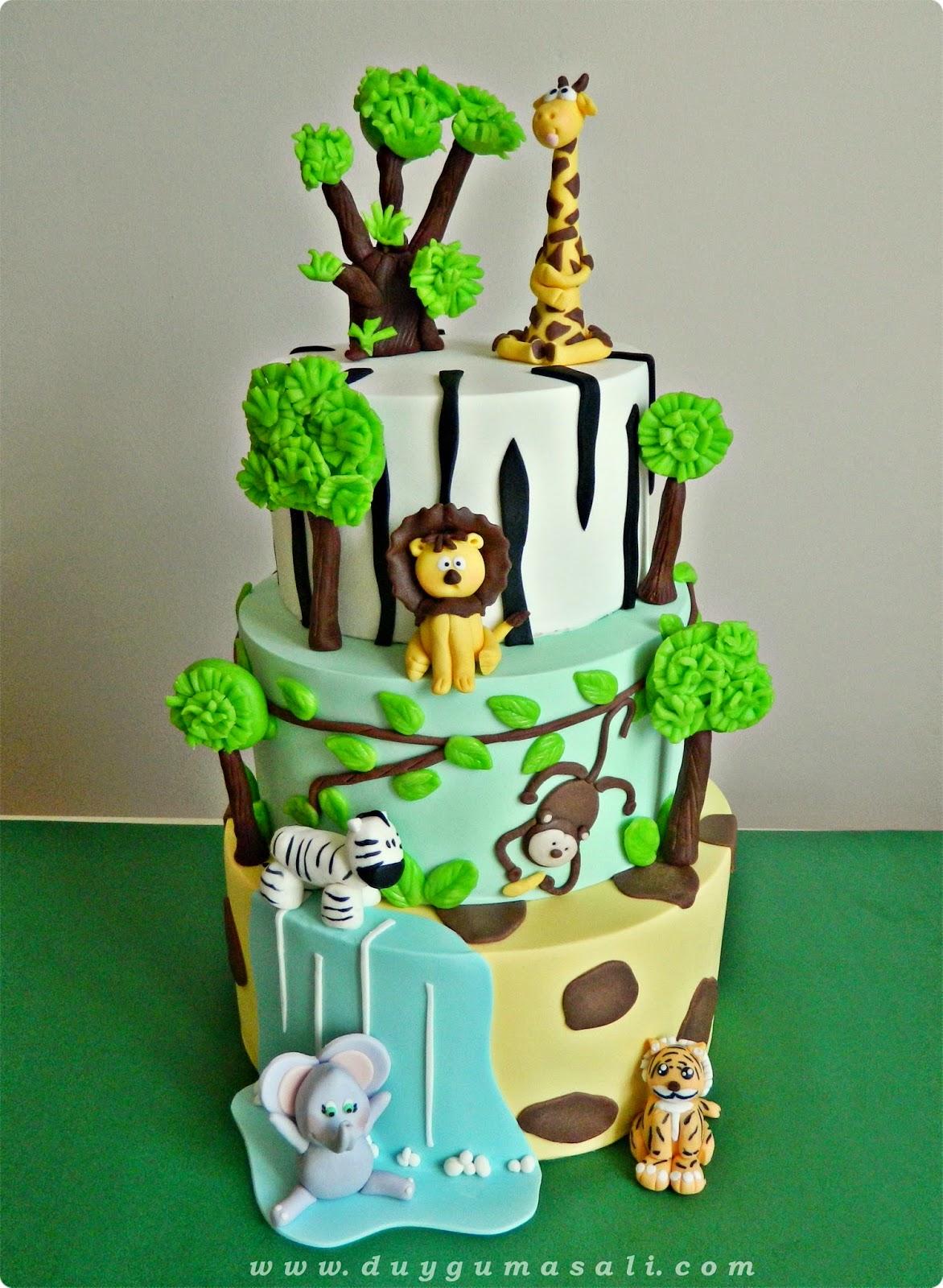 edirne safari 1 yaş pastası