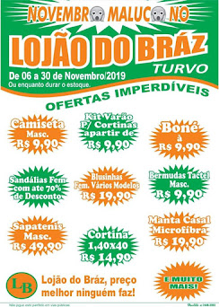 No Lojão do Braz de Turvo.