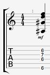 Bb7 guitar chord