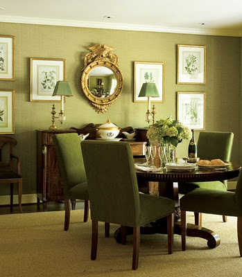 The enchanted home for Green dining room