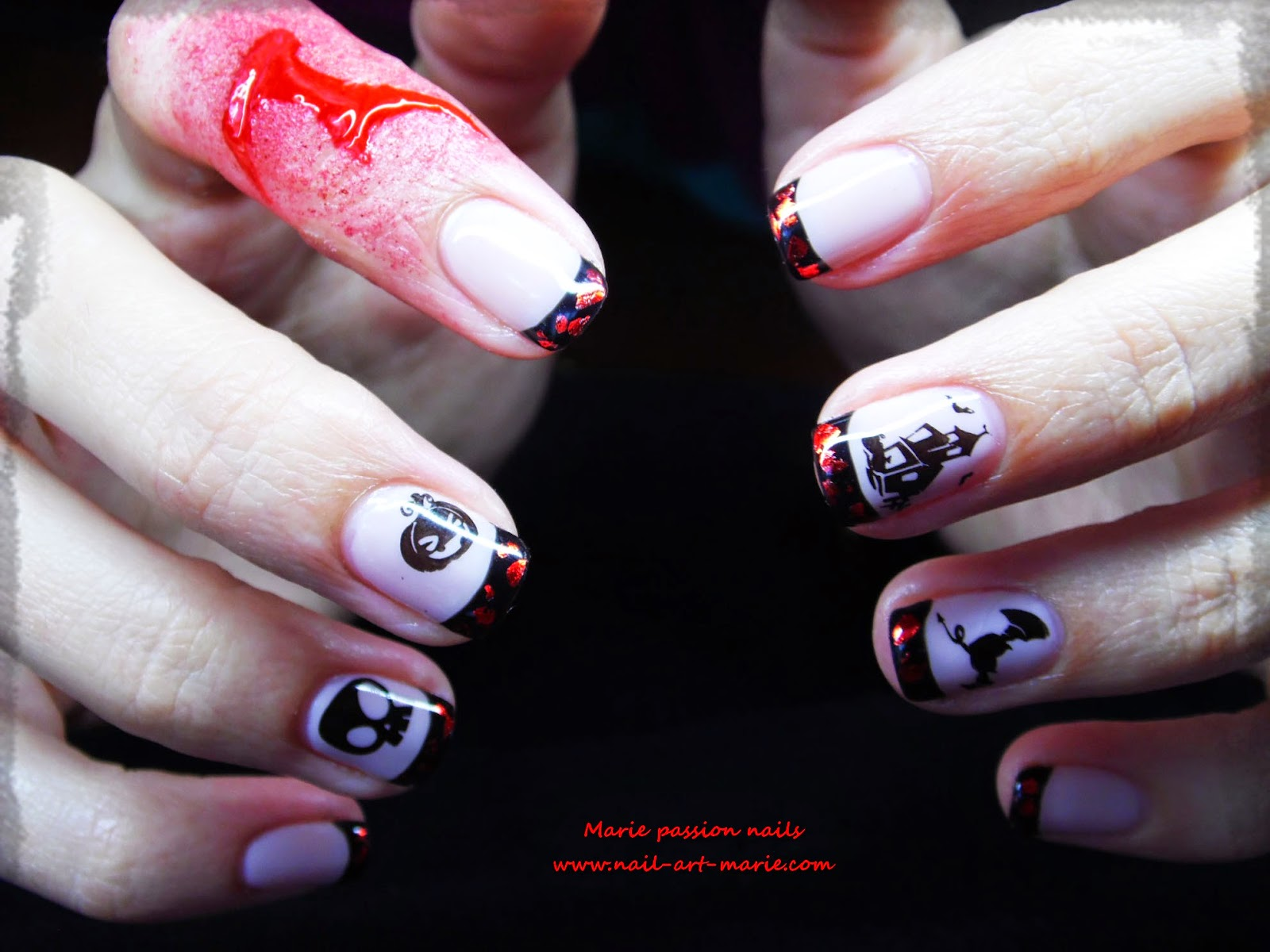 Nail Art d' Halloween en semi-permanent3