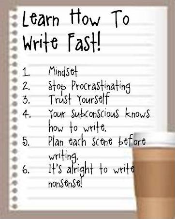 How to write essay fast