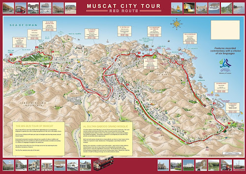 Muscat city tour map
