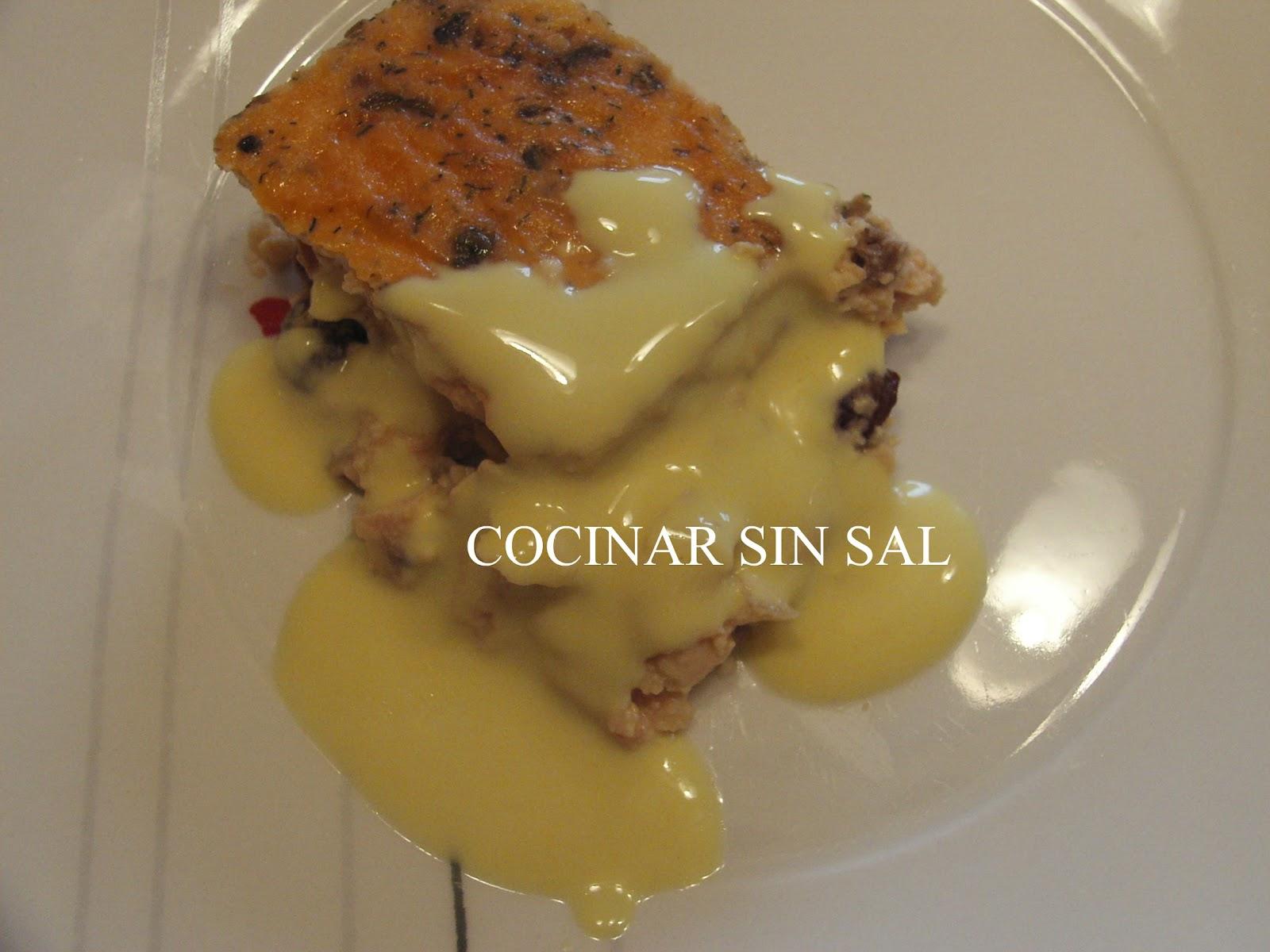 Cocinar sin sal pastel de salm n y gambas sin sal - Cocinar sin sal ...