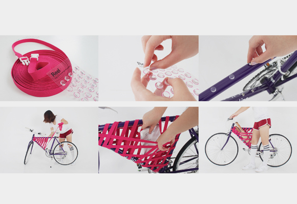 Bicicleta tem porta objetos adaptada no quadro