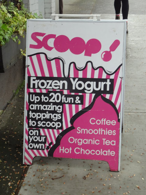 scoop frozen yogurt in kitsilano