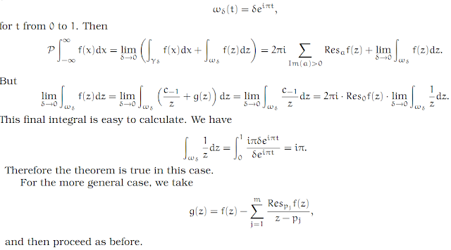 Complex Analysis: #18 Integrating across a Pole equation pic 10