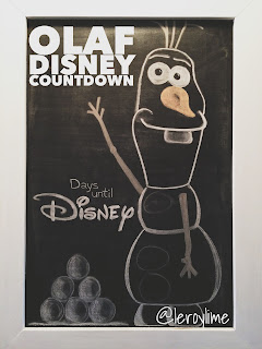 Olaf Disney Countdown - Freehand Chalkboard Lettering and Art - LeroyLime