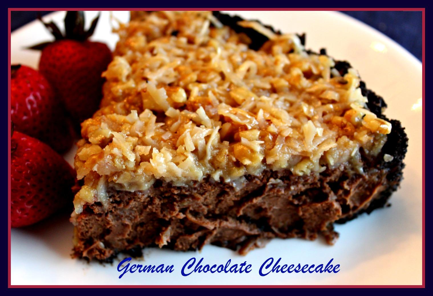 Sweet Tea and Cornbread: German Chocolate Cheesecake!