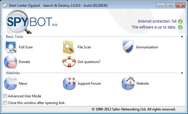 Spybot Search & Destroy 2.0 Beta 6 Free Download, Spybot Search ...