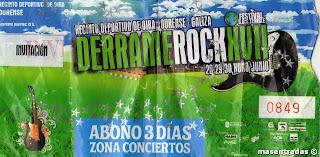 entrada festival derrame rock