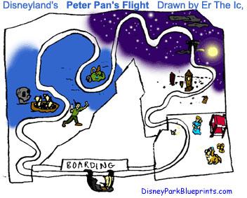 All disneyland ca usa all sketches peter pans flight dl
