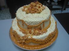 2 tiers Wedding Cake - Bermula dari RM150.00
