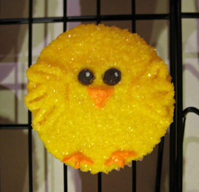 Easter Chick Cupcakes - Close-Up View 2