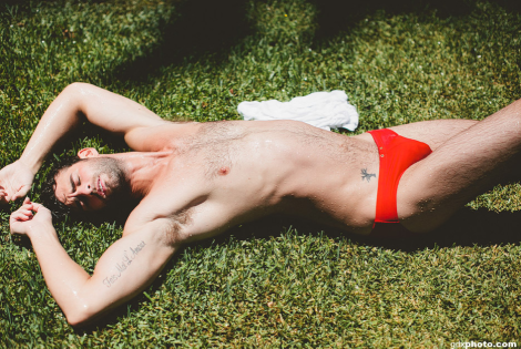 Chris Salvatore wearing Charlie by MZ