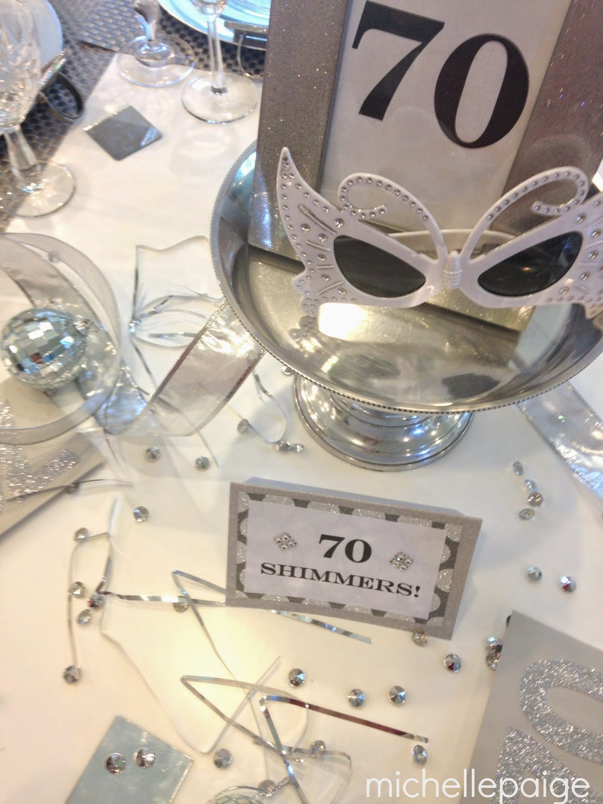 Michelle paige blogs a sparkling 60th or 70th birthday for Decoration 70
