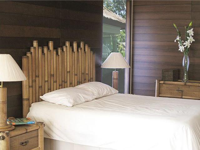 Cabecero de cama de bambu