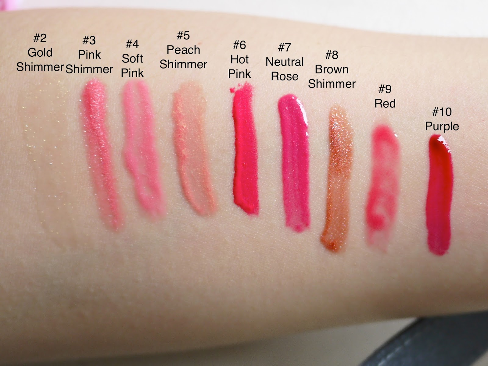 Sephora Endless Kisses: Lip Gloss Set review and swatch