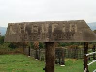 Indicador a la masia La Bufia, dedicada al turisme rural