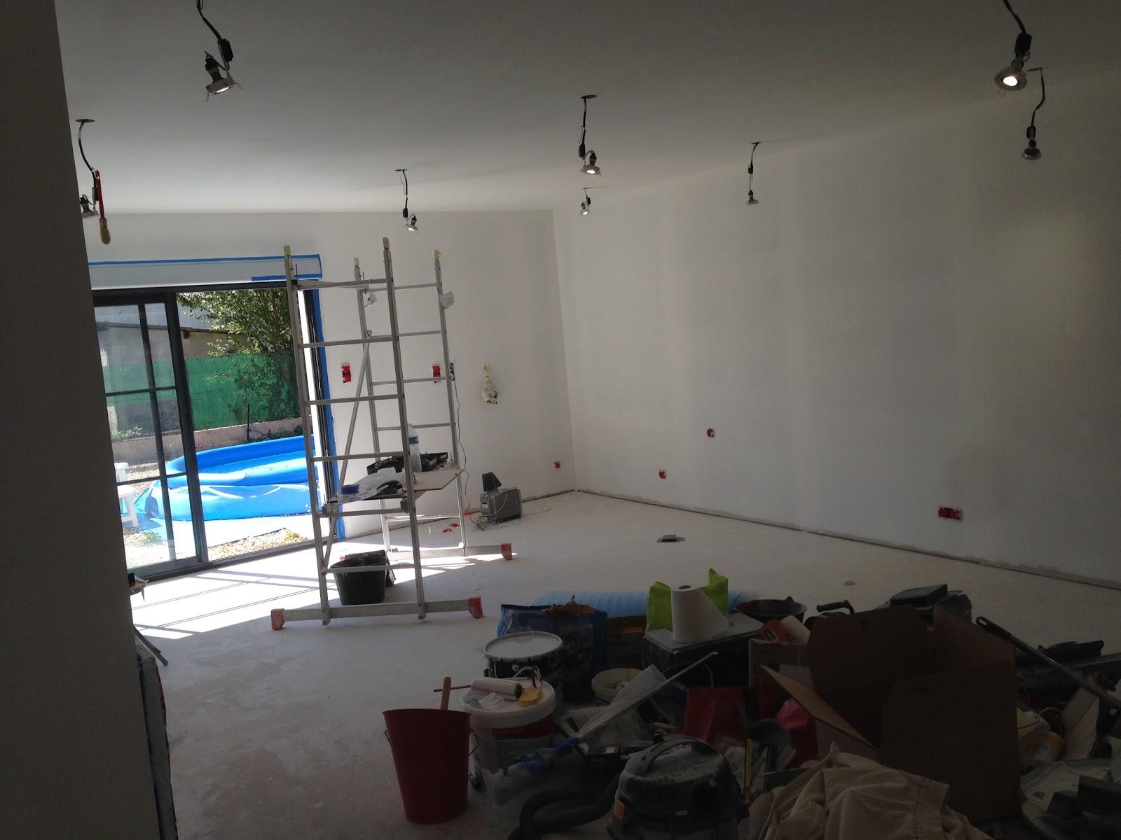 notre projet salon salle manger peinture d 39 impression. Black Bedroom Furniture Sets. Home Design Ideas