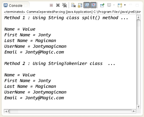 java how to use string split