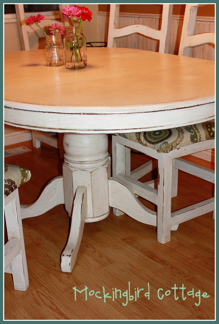 Mockingbird cottage refinished kitchen table and chairs - Refinished kitchen table ...